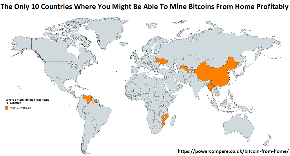The Only 10 Countries Where You Might Still Be Able To Mine Bitcoins From Home Profitably