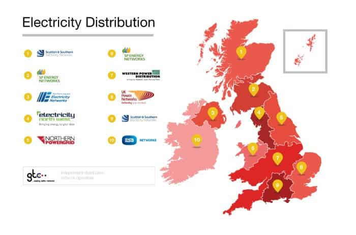 DNO Electricity Distribution Map