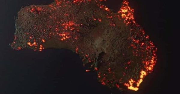 3D Visualisation Of Areas Affected By Australian Fires Based On...