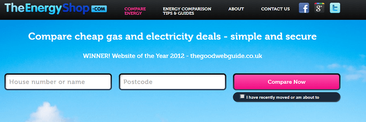 The Energy Shop Website